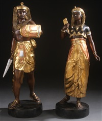 egyptian statues (pair) by anonymous (20)