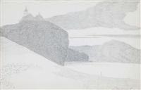 personnages près de rochers devant la côte by léon spilliaert