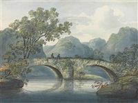ashside, borrowdale (+ rosthwaite bridge; 2 works) by william anderson