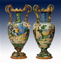 vasi (pair) by ginori porcelain factory (co.)
