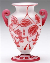 footed vase by thomas webb