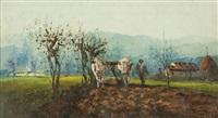 contadino e buoi by ferruccio rontini