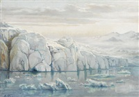 gletscher auf spitzbergen by edouard jeanmaire