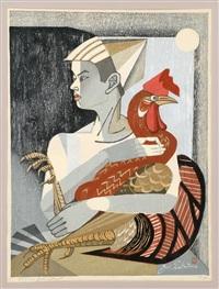 rooster and boy by junichiro sekino