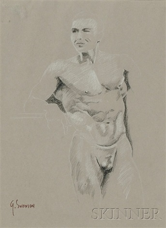 male nude study male nude study 2 works by george alan swanson