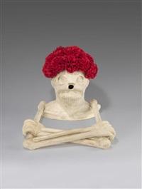 ohne titel (skelett-vase) by maurizio cattelan