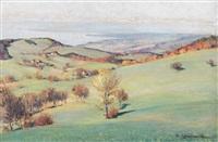 landschaft oberhalb des genfersees by paul lepinard