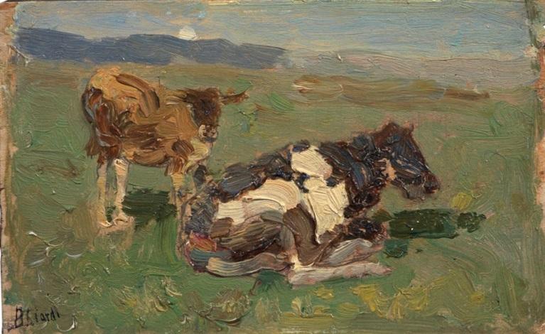 mucche al pascolo by beppe ciardi