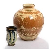 two vases (2 works) by herman august kähler