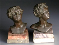 girl's busts (pair) by edgardo simone