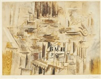 hommage a j-s bach by georges braque