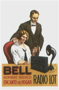 bell radio lot by posters: advertising