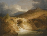 bridge of pont-y-pair, betwys-y-coed, north wales by john sell cotman