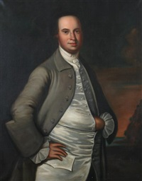 portrait of colonial gentleman (after john hesselius) by c.gregory stapko
