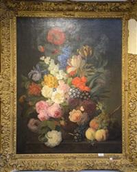 nature morte aux fleurs by jan frans van dael
