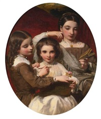 portrait of the russell sisters by james sant