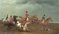 hunting scenes (pair) by samuel henry alken