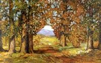 summer landscape (dogwoods) by lydia dunham fabian