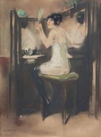 femme à sa toilette by han van meegeren