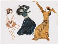 schwarze musiker und tänzer (+ venedig; 2 works) by eric isenburger