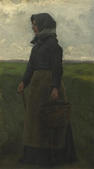 village woman by wilhelm pacht