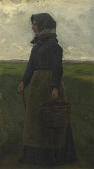 village woman by wilhelm pacht