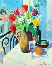 parisian still life by johannes meyer andersen