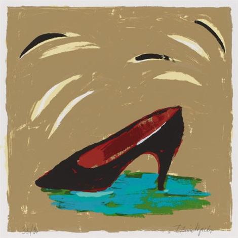 aus 6 paraphrasen zur pop art frau mit ball erdbeeren schuhsuperwoman 4 works by elvira bach