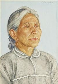 gammal mexikansk kvinna by nils von dardel