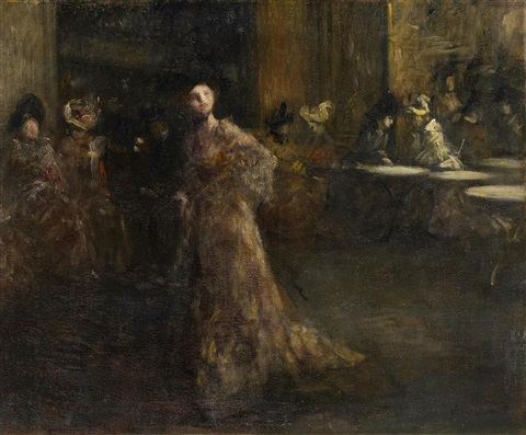 caféhausszene in paris by jean louis forain