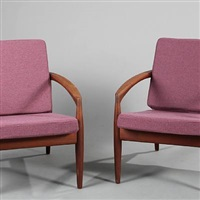 easy chairs (model 121) (pair) by kai kristiansen