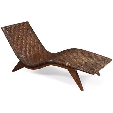 chaise (seat woven bt ozark mountain basket weavers) by edward durell stone