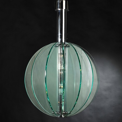 large spherical chandelier by fontana arte