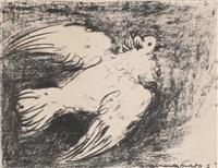 la colombe en vol 1950 by pablo picasso