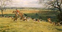 hunt scene, quorn in leicestershire by john theodore eardley kenney