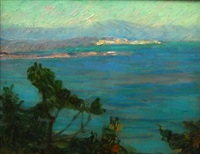 view along a mediterannean coast by konstantinos maleas