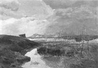 moor in voralpenlandschaft by emil brehm