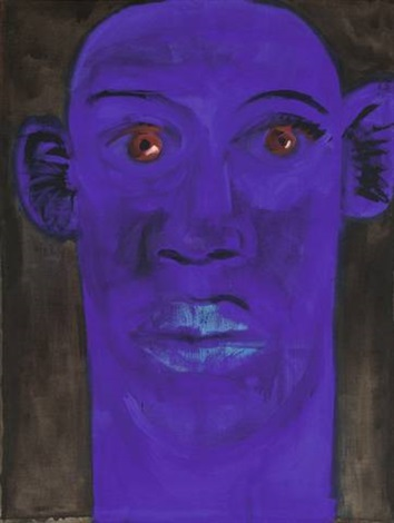 blauer kopf i by rainer fetting