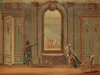 zemire och azor (act 3, scene 6) by pehr hilleström