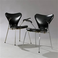 seven chair (pair) by arne jacobsen