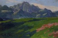 bayerische gebirgslandschaft am chiemsee by julius exter