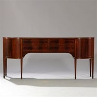 sideboard of mahogany by frits henningsen