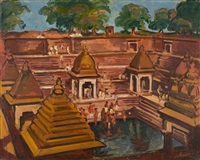 heiliger tempelteich by fritz max hofmann-juan