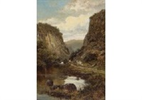 a summer day in dovedale by william henry mander