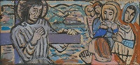 christ meeting the women of jerusalem on the way to calvary by evie hone