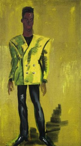 man in yellow mugler by rainer fetting