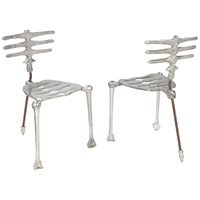 skeleton chairs (pair) by michael aram