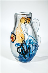 bedeutende vase ''i sposi'' (das brautpaar) by marc chagall