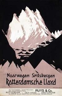 noorwegen spitsbergen rotterdamsche lloyd by fedor van kregten