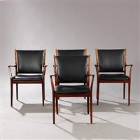 armchairs (set of 4) by erik kolling andersen